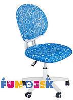Ортопедическое компьютерное кресло  для школьника 7-15 лет ТМ FunDesk Голубой LST1 Blue