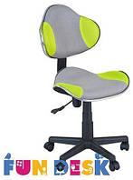 Ортопедическое подростковое кресло для детей 7-18+ лет ТМ FunDesk Салатовый+серый LST3 Green-Grey