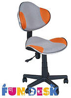 Ортопедическое подростковое кресло для школьников 7-18+ лет ТМ FunDesk Оранжевый+серый LST3 Orang-Grey