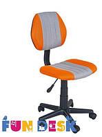 Ортопедическое детское кресло Fundesk LST4 (Нагрузка до 80 кг, 7-16 лет) ТМ FunDesk Оранжевый+серый LST4 Orange-Grey