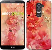 "Чехол на LG G2 Розовые цветы ""2461u-37"""