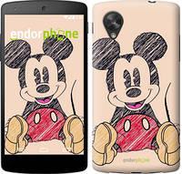 "Чехол на LG Nexus 5 Нарисованный Мики Маус ""2731c-57-532"""