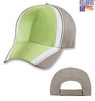 Кепка бейсболка шестипанельная FORMULA серая/зеленая