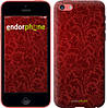 """Чехол на iPhone 5c Чехол цвета бордо """"2659c-23"""""""