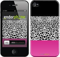 """Чехол на iPhone 4s Шкура леопарда v3 """"2723c-12"""""""