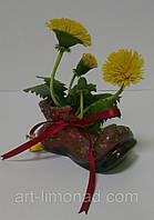 Одуванчик в башмачке из холодного фарфора, фото 1