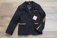 Пиджак на мальчика черный 122-146
