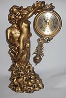 """Настольные интерьерные часы-статуэтка """"Влюбленные"""",""""Адам и Ева"""" кварцевые, подарочные, сувенирные часы"""
