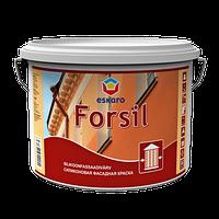 Краска фасадная силиконовая Эскаро Форсил в ведрах по 9,5 литров
