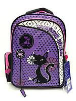 """Рюкзак Winner stile 194 B школьный """"black cat"""" для девочек Польша 29 см х 15 см х 40 см"""