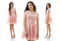 Нарядное платье со складками из органзы пышное