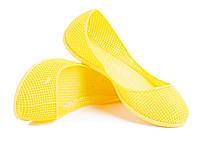 Балетки резиновые желтые