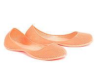 Балетки резиновые оранжевые
