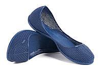 Балетки резиновые синие
