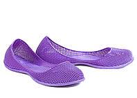 Балетки резиновые фиолетовые