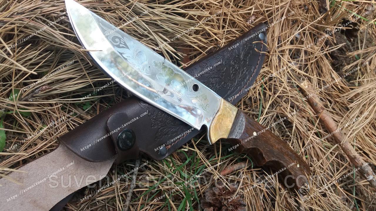 Нож охотничий Медведь из прочным лезвием