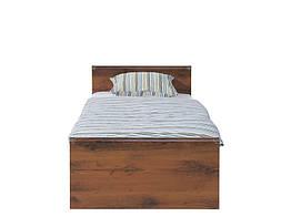 Кровать JLOZ90 Индиана БРВ 90×200 см Дуб шуттер