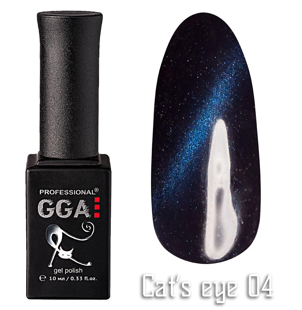 """Гель-лак GGA Professional """"кошачий глаз"""" №4, 10ml"""