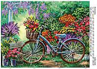 Схема для вышивки бисером Велосипед