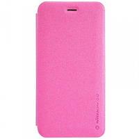 "Кожаный чехол-книжка Nillkin Sparkle для Apple iPhone 6/6s plus (5.5"") розовый, фото 1"