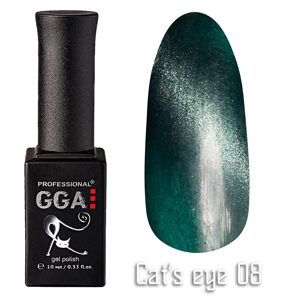 """Гель-лак GGA Professional """"кошачий глаз"""" №8, 10ml"""