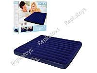 Надувной матрас велюр Intex 183-203-22 см (ОПТОМ) 68755
