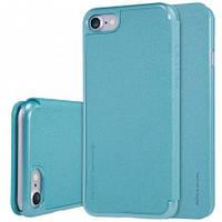 "Кожаный чехол-книжка Nillkin Sparkle для Apple iPhone 7 (4.7"") бирюзовый"