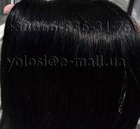 Русские волосы для наращивания на капсулах. Черные 55 см, фото 1