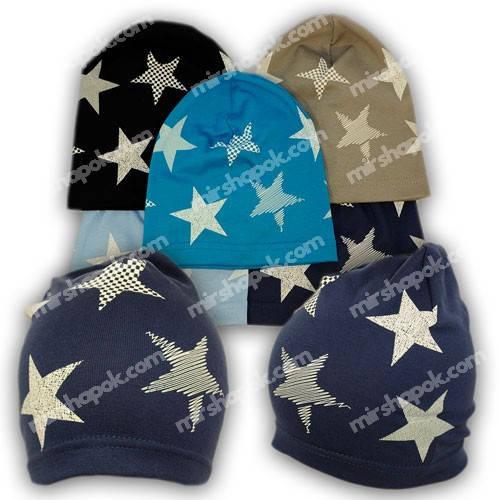 Детские шапки из трикотажа с принтом, Y111-1