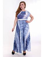 Платье в пол из шифона большого размера с поясом