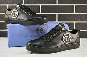 Мужские кеды Philipp Plein Sneakers Black, Копия