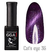 """Гель-лак GGA Professional """"кошачий глаз"""" №36, 10ml"""