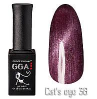 """Гель-лак GGA Professional """"кошачий глаз"""" №38, 10ml"""