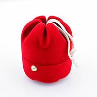 Футляр 54606 для кольца-серег, красный бархат, 6.5*5 см