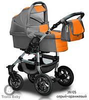 Универсальная коляска 2 в 1 Jumper с.серый+оранжевый