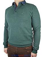 Мужской стильный свитер Fabiani 3439 зеленый