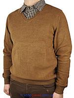 Мужской свитер-обманка Better Lifе 753 в коричневом цвете
