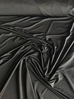 Трикотаж микромасло однотон черный