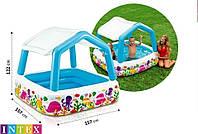 Детский бассейн Intex 57470 со съемной крышей, интекс 157х157 см, фото 1