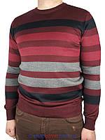 Демисезонный мужской свитер EMR в полоску 2650#03 Н