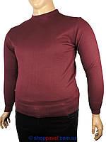 Мужской свитер Wool Yurt 0380 В круг в бордовом цвете