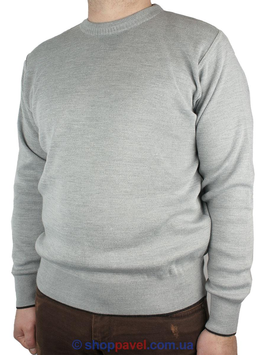 Мужской серый свитер Expand 0340 Н с круглым горлом