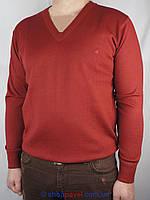 Мужской классический свитер DLN в красном цвете 2305 Н
