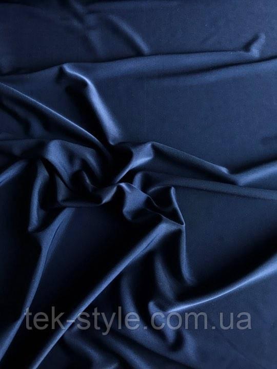 Трикотаж микромасло однотонный темно синий