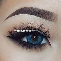 Синие линзы для карих глаз Cuno blue