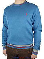 Демисезонный мужской свитер Polo Vipline-41 синего цвета
