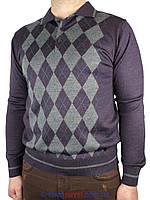 Мужской свитер Taddy 0300 Н c воротником в разных цветах