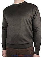 Мужской классический свитер  Wool Yurt 0250 Н круг в коричневом цвете
