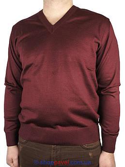 Классический мужской свитер Wool Yurt 0250 Н мис бордовый