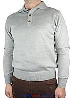 Мужской свитер Taddy 0300 Н с воротником в сером цвете